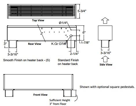 916 Series high watt density draft barrier